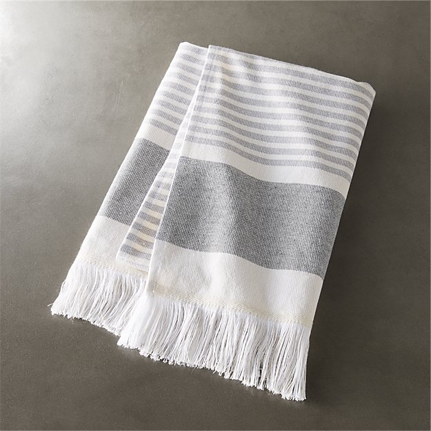 hand towel. KarlaCementHandTowelSHF16 Karla Cement Hand Towel  Reviews CB2