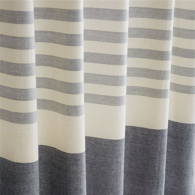 Karla Cement Shower Curtain + Reviews | CB2