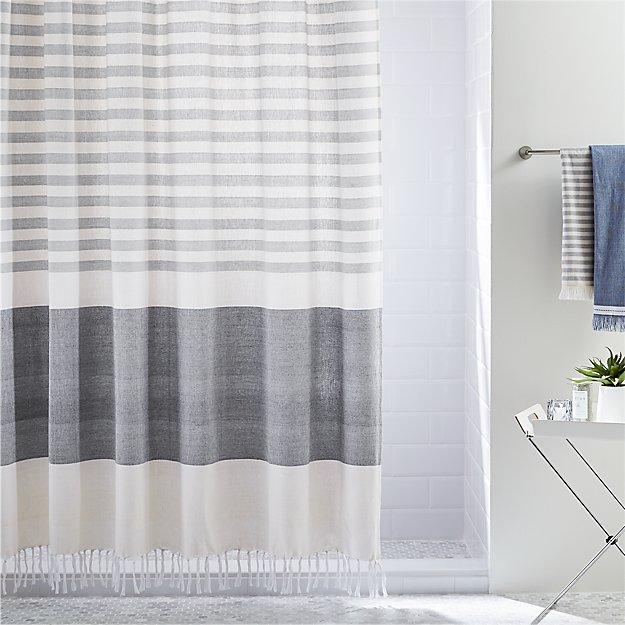 Bon Karla Cement Shower Curtain + Reviews | CB2