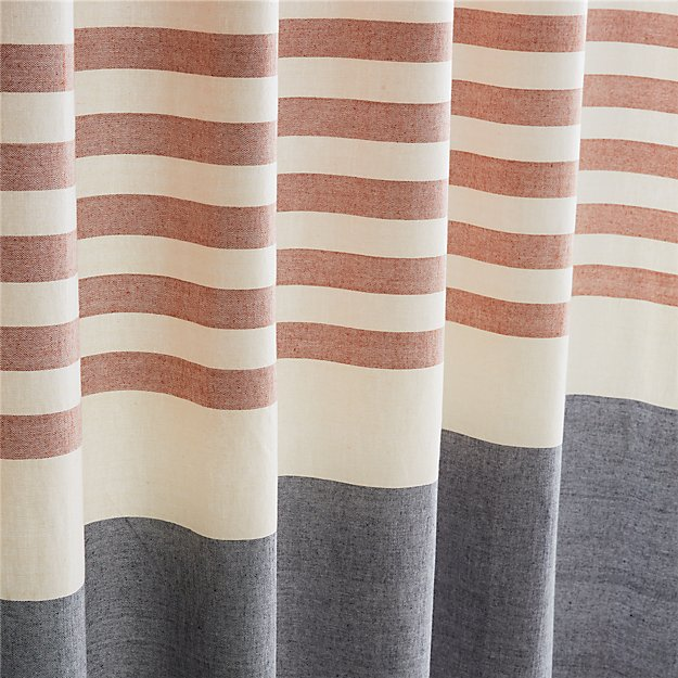 orange and grey shower curtain. KarlaShowerCurtainCopperROF16 Karla Copper Shower Curtain  Reviews CB2