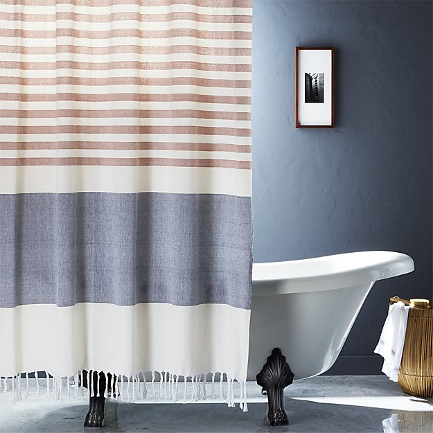Charmant Karla Copper Shower Curtain + Reviews | CB2