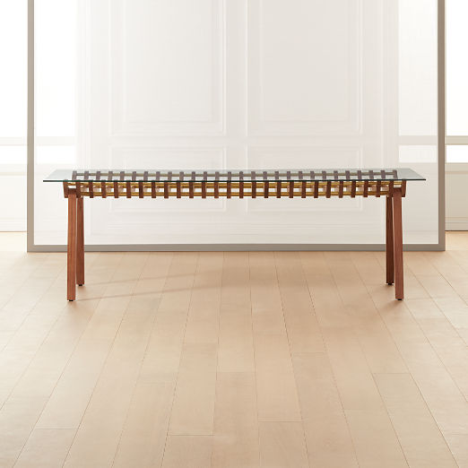 Kea Wood and Glass Dining Table