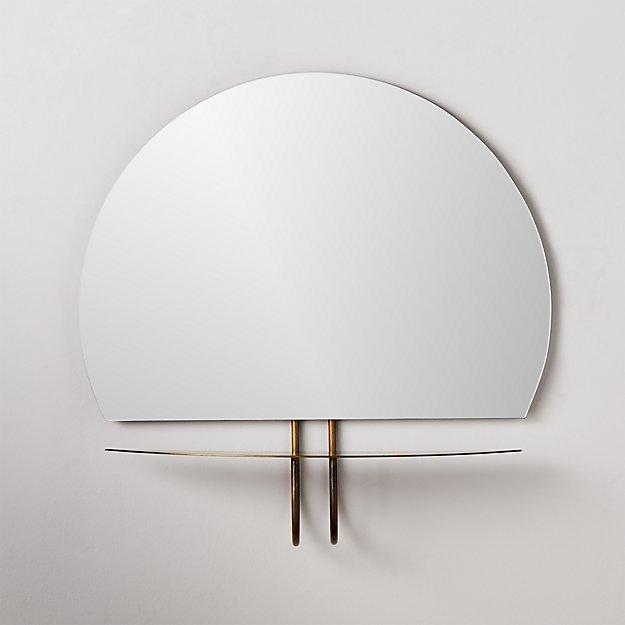 Kemper Brass Shelf Mirror - Image 1 of 5
