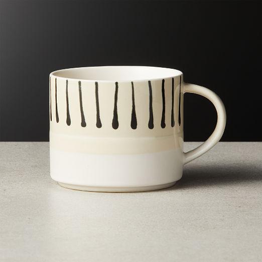 Keri Black Pattern Mug