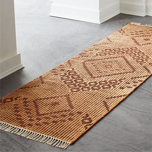 Kit Brown Hand-knotted Runner 2.5'x8'