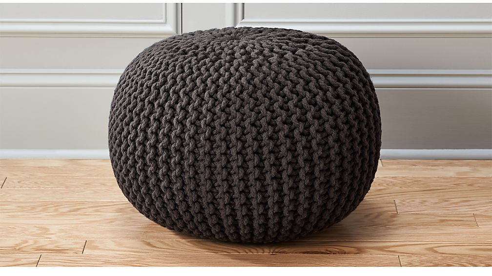 piece pouf rs knit at crochet proddetail ottoman hand poufs knitted