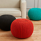 View product image knitted graphite pouf - image 3 of 5