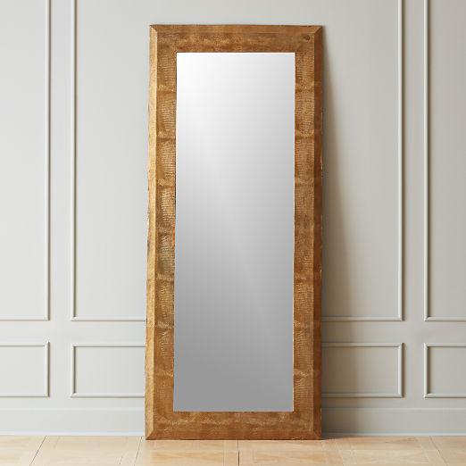Kona Snakeskin Statement Floor Mirror