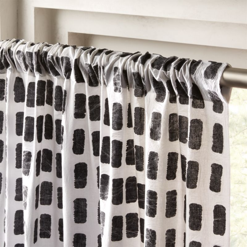 Black And White Curtains Cb2