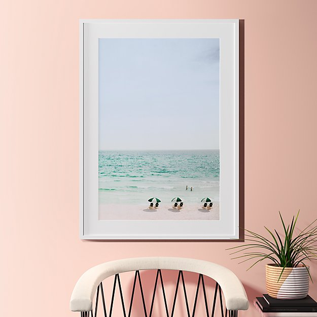 beach life with white frame 31.5\