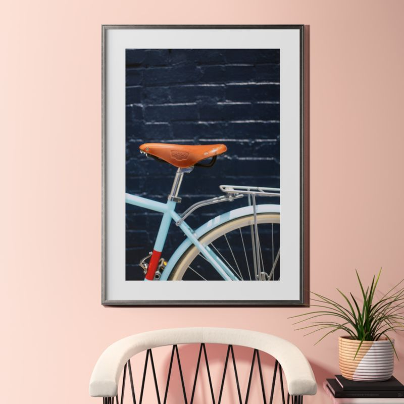 city bike blues with pewter frame ... & blue wall art | CB2