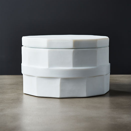 La Palma Glass White Canister