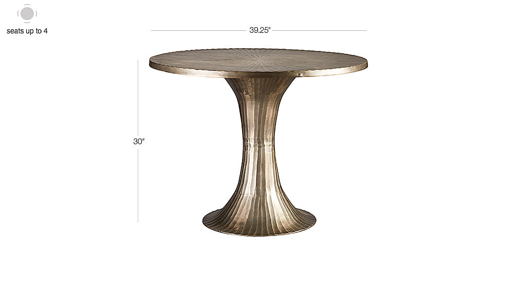 TAP TO ZOOM Image With Dimension For La Pera Metal Bistro Table