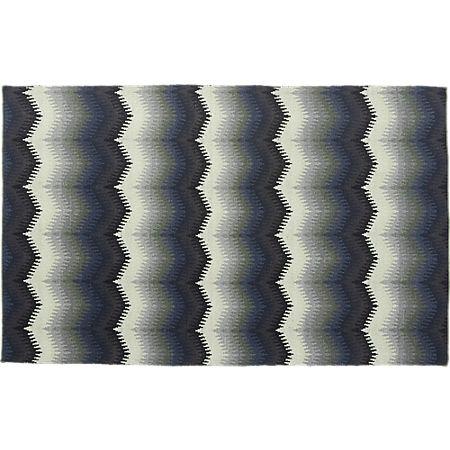 Lambrate Blue Chevron Rug 5'x8' +