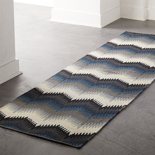 Lambrate Blue Chevron Runner 2.5'x8'