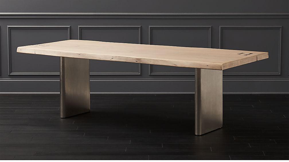 Landscape Live Edge White Washed Wood Dining Table