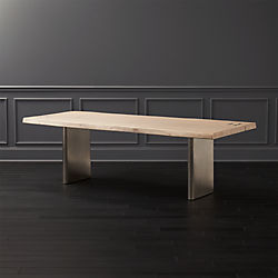 Landscape White Washed Wood Dining Table