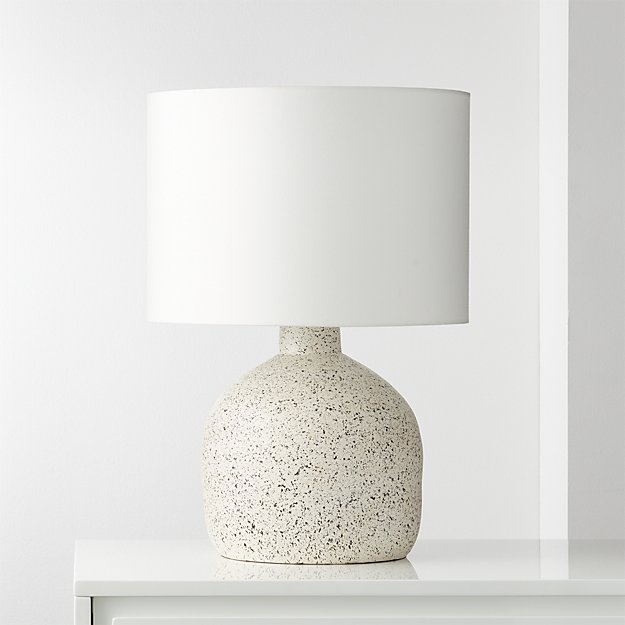 Largo Speckled White Ceramic Table Lamp Reviews Cb2