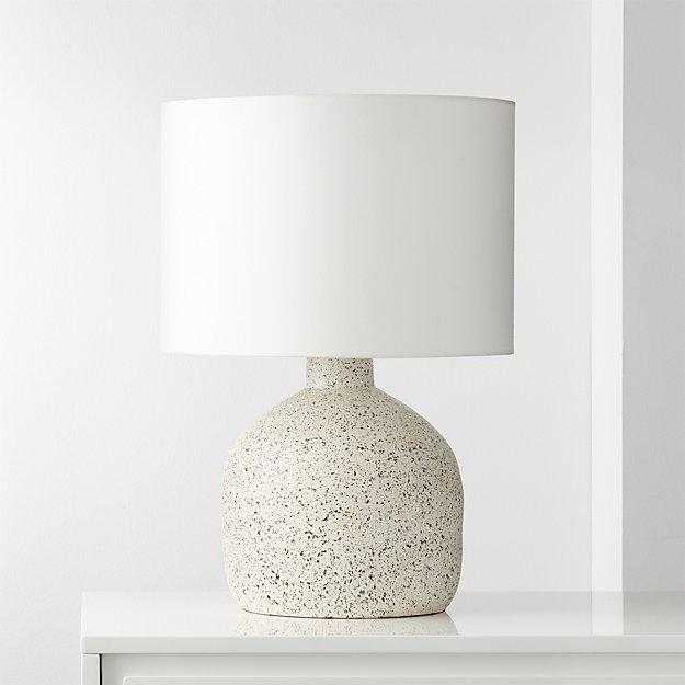 Largo Speckled White Ceramic Table Lamp Reviews Cb2