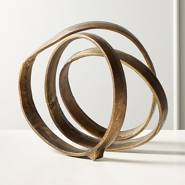 Lasso Brass Spiral Sculpture - Image 1 of 4