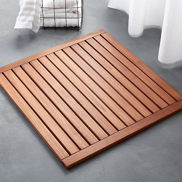 Lateral Teak Natural Bath Mat 21 75 Quot X23 Quot Reviews Cb2