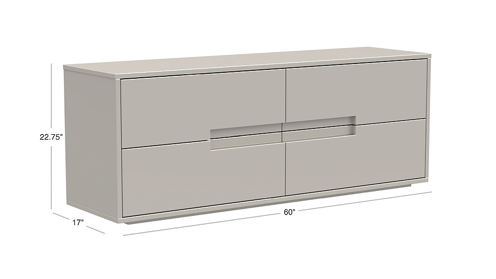 Latitude Oat Low Dresser With Drawers Reviews Cb2