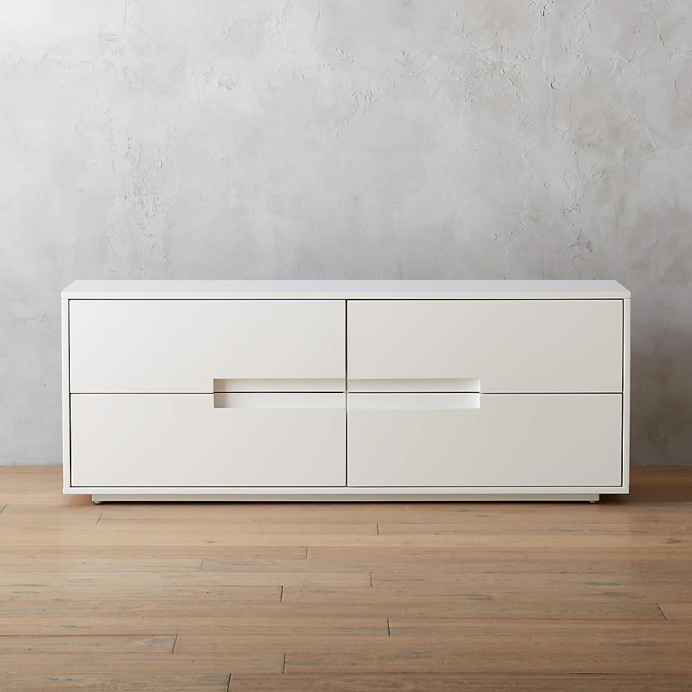 Laude White Low Dresser Reviews Cb2