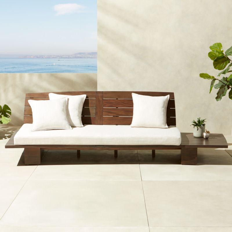 Burton Leather Sofa: Modern Armless Sofas