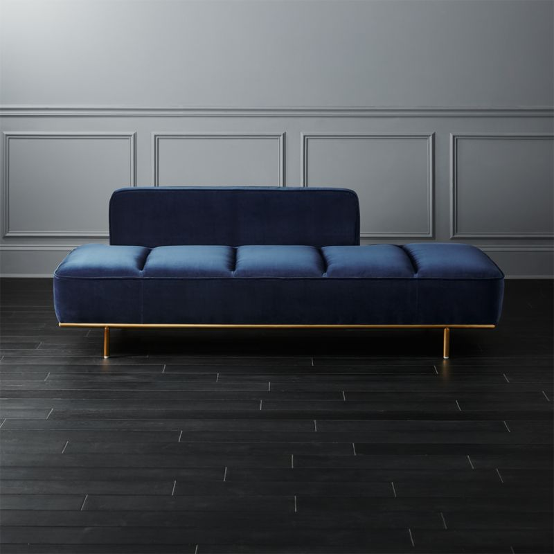 Lawndale Navy Daybed With Br Base