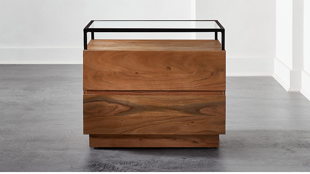 Lawson Glass Top Nightstand - Image 1 of 7