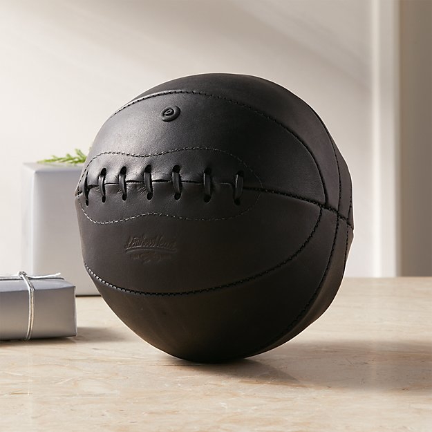 Leather Head Mini Black Leather Basketball - Image 1 of 9