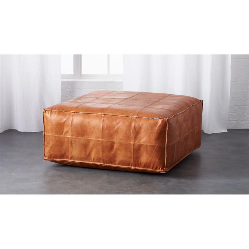 Pleasing Leather Ottoman Pouf Inzonedesignstudio Interior Chair Design Inzonedesignstudiocom