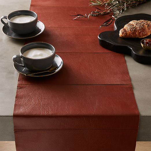 Saddle Leather Table Runner