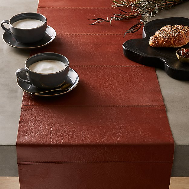 Saddle Leather Table Runner - Image 1 of 4