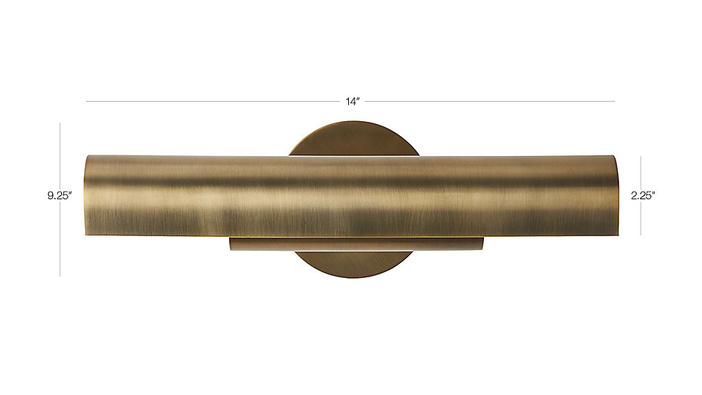 Lectura Antique Bronze Wall Sconce Reviews Cb2