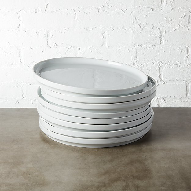 Set of 8 Ledge Dinner Plates - Image 1 of 7