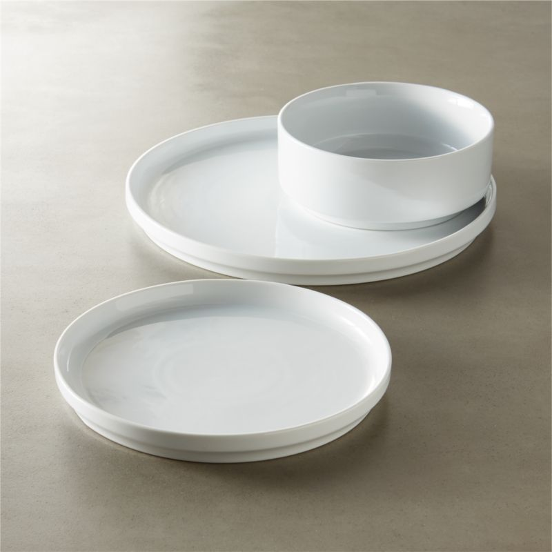 & Ledge White Porcelain Dinnerware | CB2