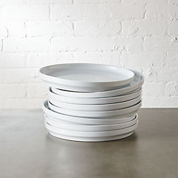 set of 8 ledge salad plates & Modern Dinnerware and Unique Dinnerware Sets | CB2