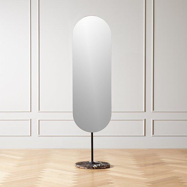 Legato Marble Oval Floor Mirror - Image 1 of 6