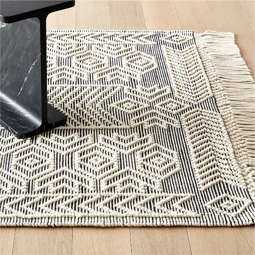 Legend Black and White Pattern Rug