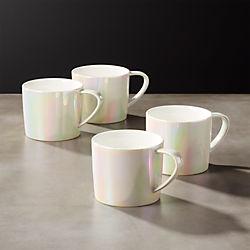 nice mug sets legend iridescent coffee mugs set of unique and teapots cb2