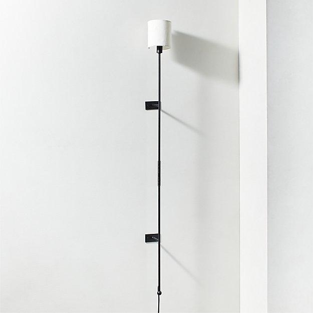 Leggero Black Pole Wall Sconce - Image 1 of 4