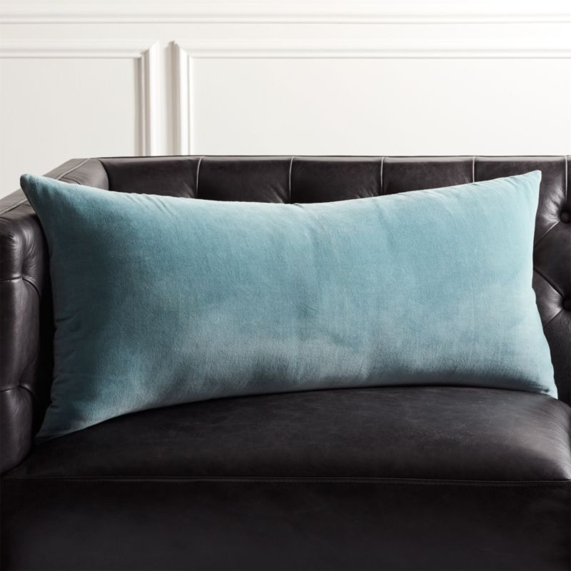 36 X16 Leisure Artic Blue Pillow With Down Alternative Insert