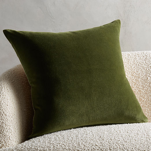 "23"" Leisure Olive Green Pillow"