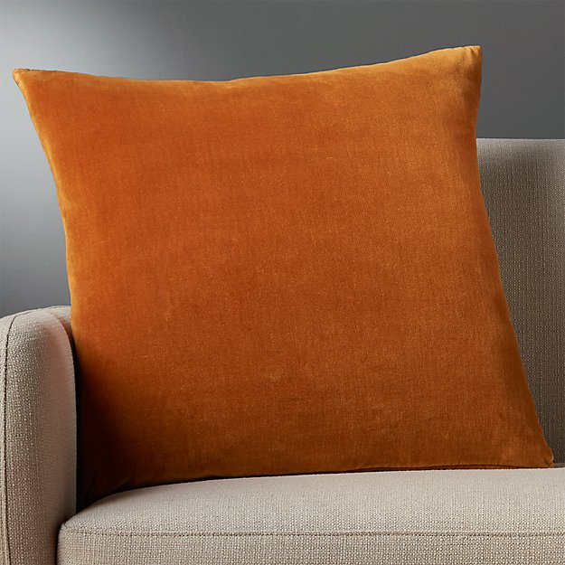 23 Quot Copper Velvet Pillow Cb2
