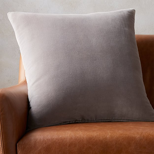 "23"" Leisure Grey Pillow - Image 1 of 7"