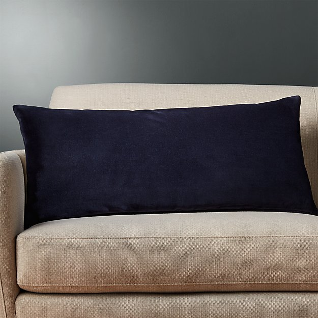 36 Quot X16 Quot Leisure Navy Pillow With Down Alternative Insert