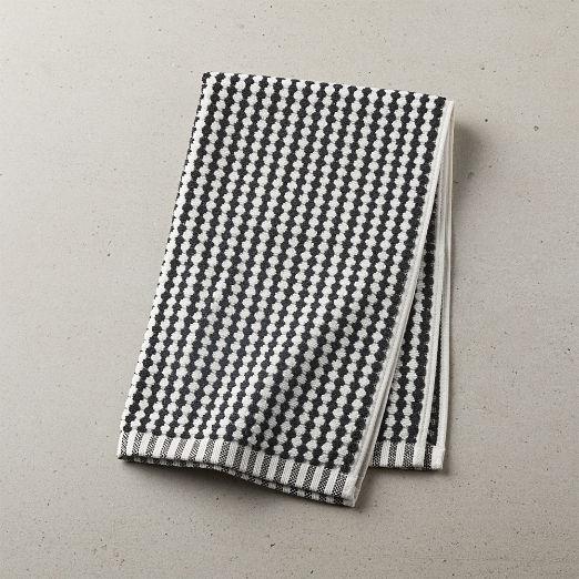 Lena Black and White Hand Towel