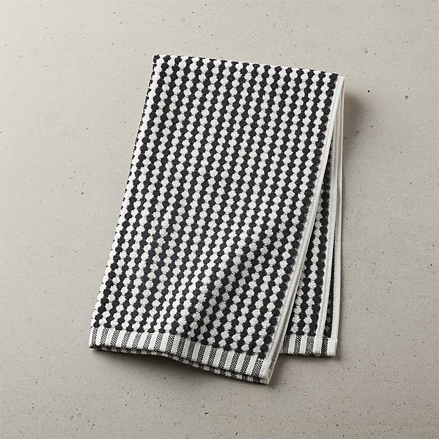 Lena Black and White Hand Towel - Image 1 of 10