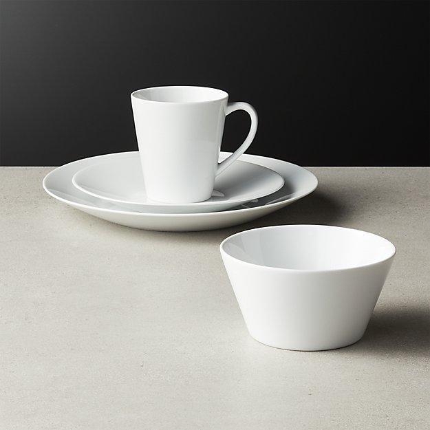 Lend White Dinnerware - Image 1 of 6